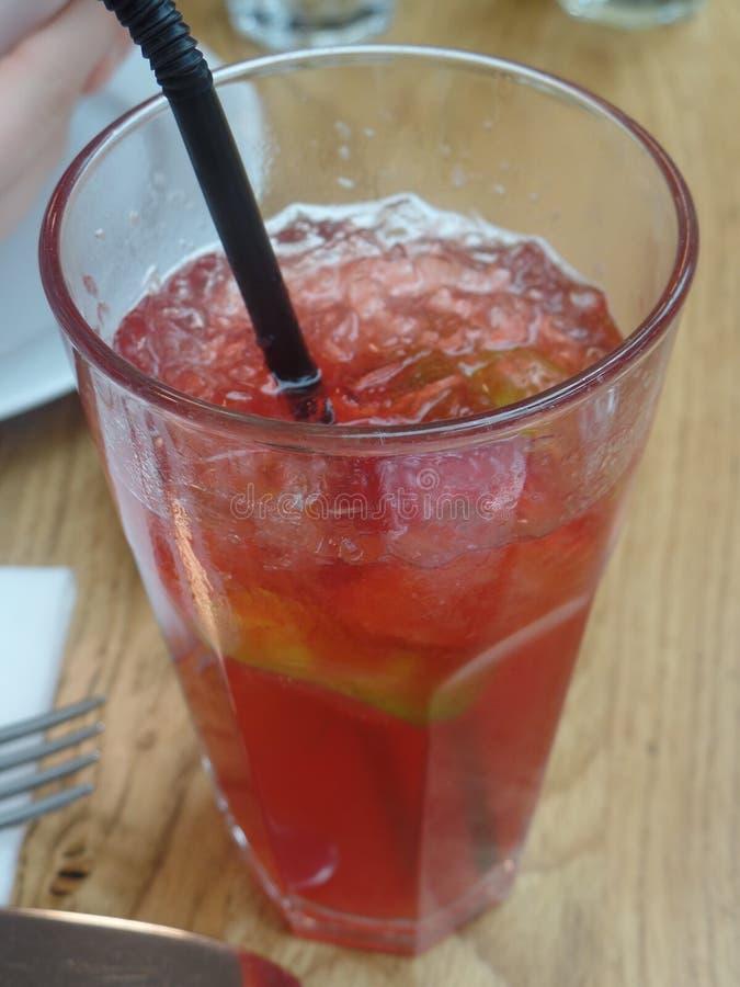 非酒精红色果汁饮料 免版税库存照片