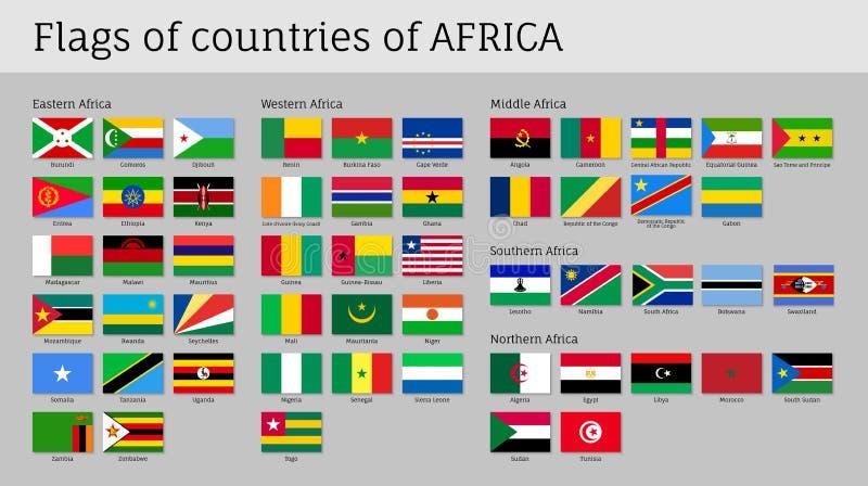 非洲下垂大集合 皇族释放例证