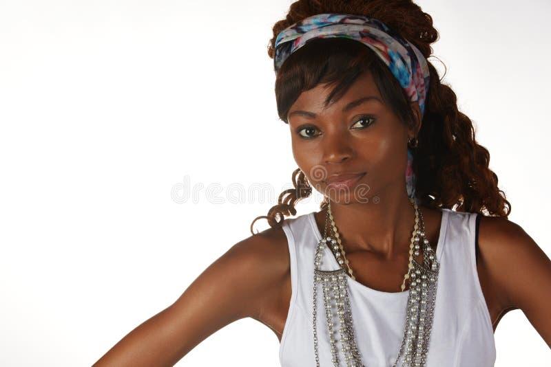 非洲黑人妇女 免版税库存图片
