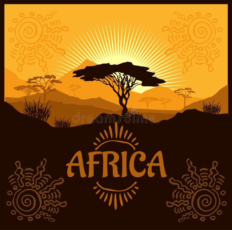 非洲-传染媒介海报 皇族释放例证