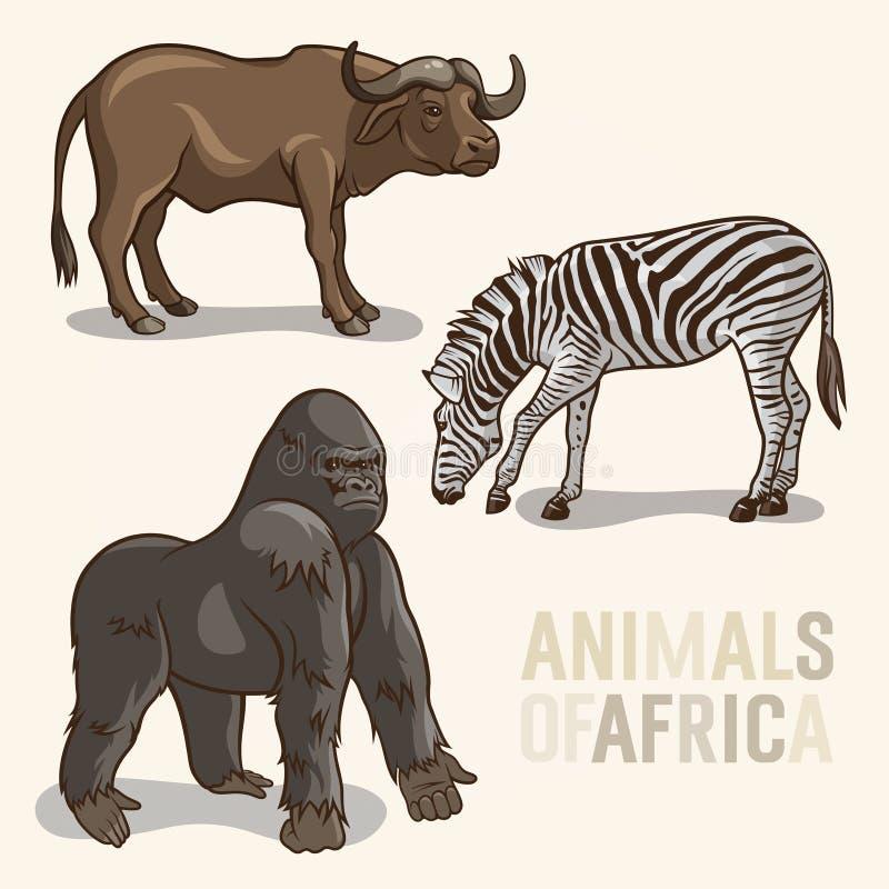 非洲动物set3 库存例证