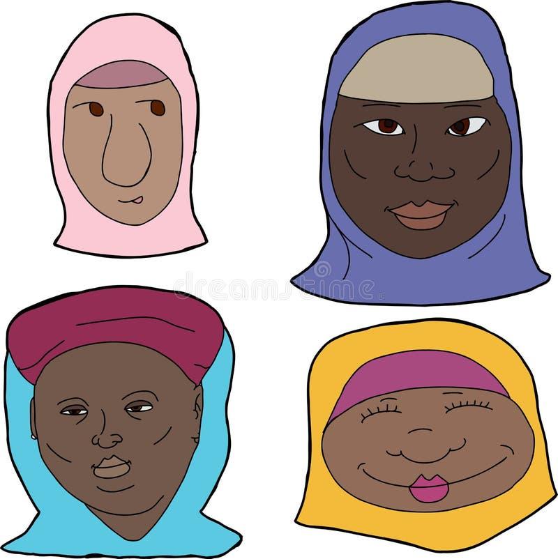 非洲回教妇女 库存例证