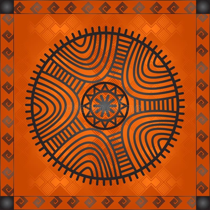 非洲国家和部落的金黄装饰品 库存照片