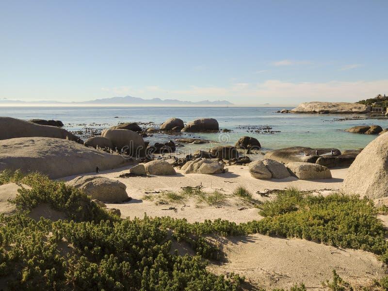 非洲-在冰砾的海角点的海岸 库存照片