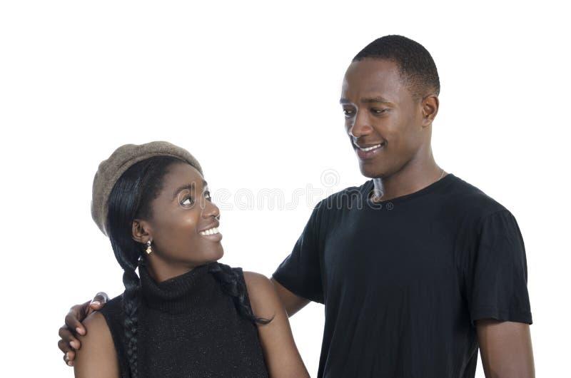 年轻非洲夫妇 免版税图库摄影