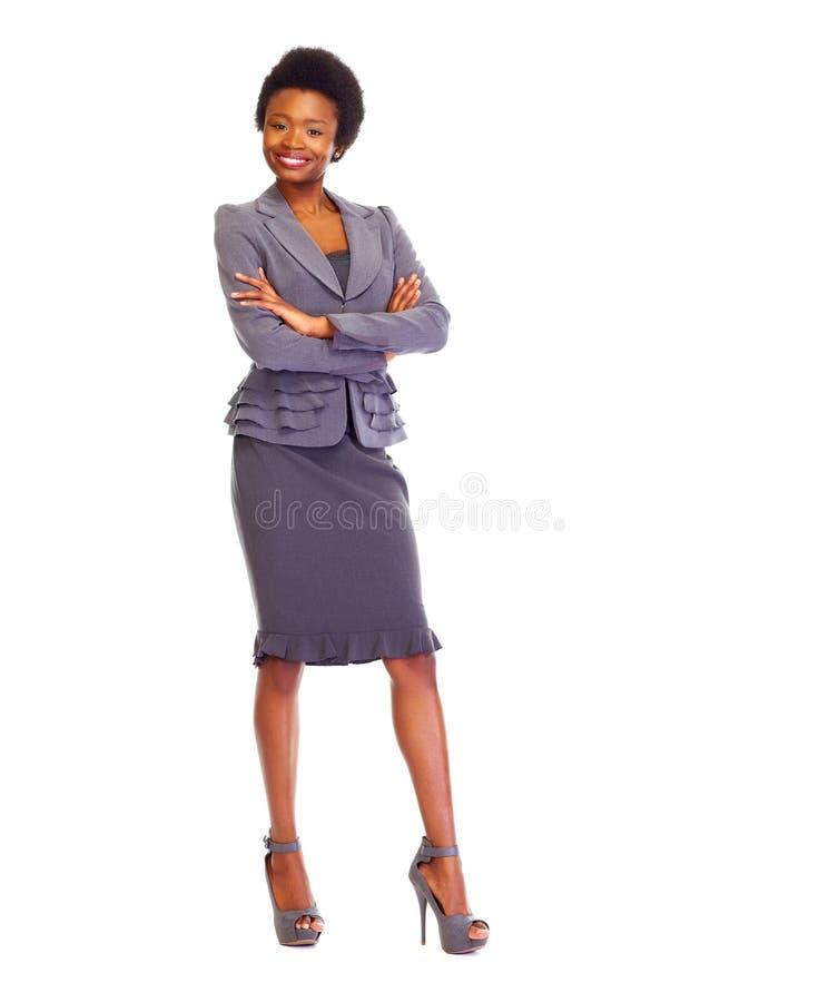 年轻非洲女商人 免版税库存照片
