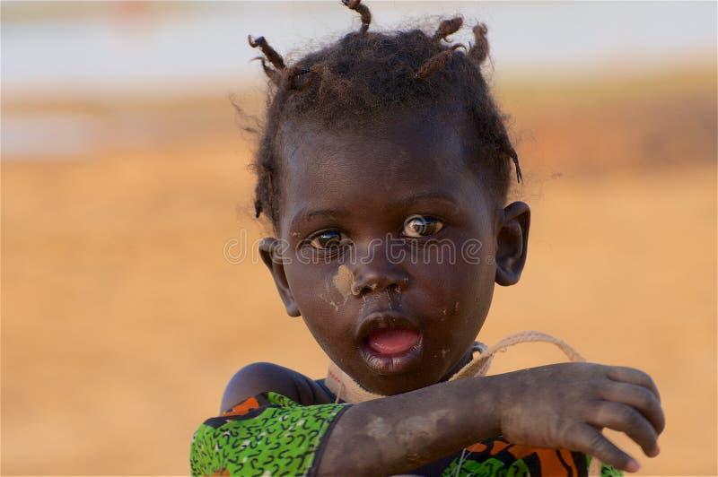 非洲女孩一点 免版税库存照片