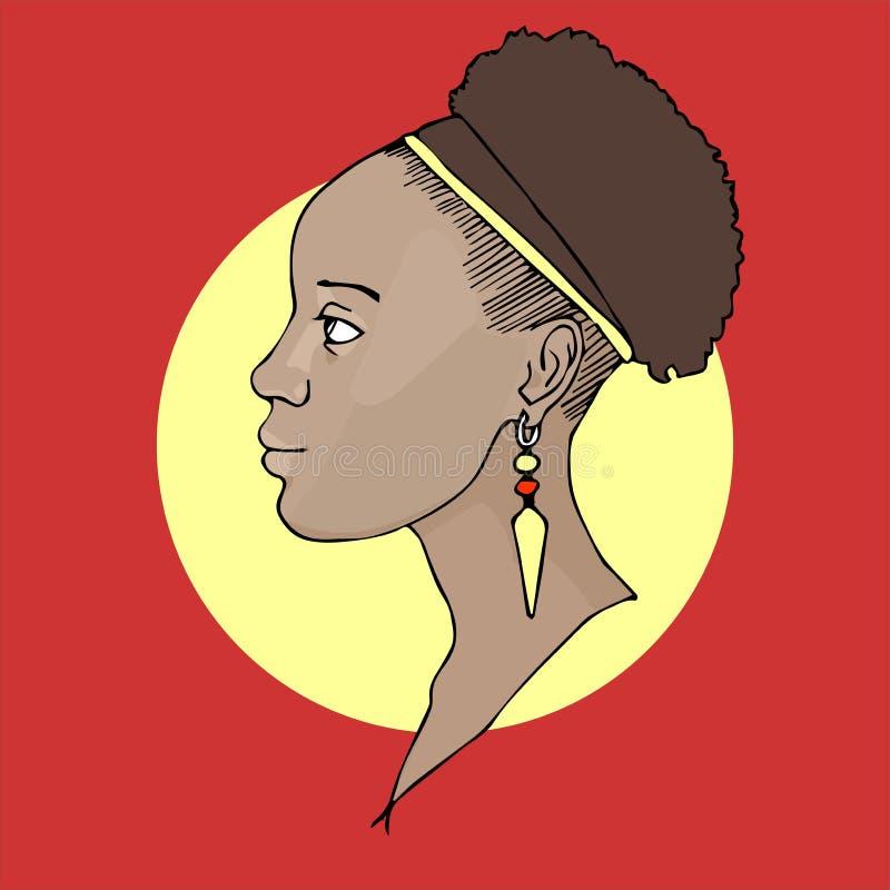 非洲女孩 向量例证