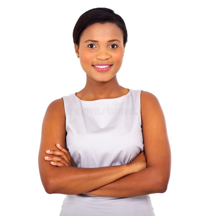 非洲女实业家关闭 免版税库存照片