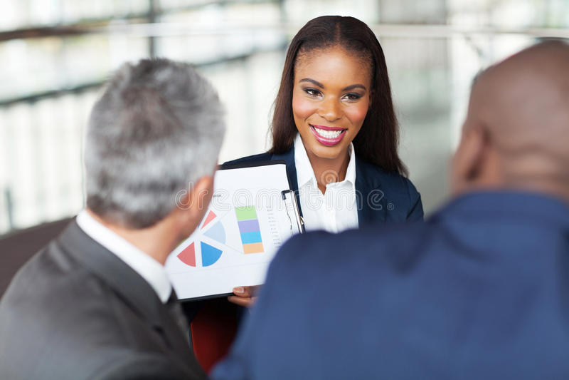 非洲女实业家队 免版税库存照片