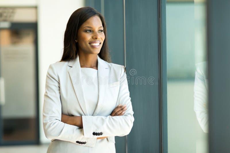 非洲女实业家年轻人 免版税库存照片