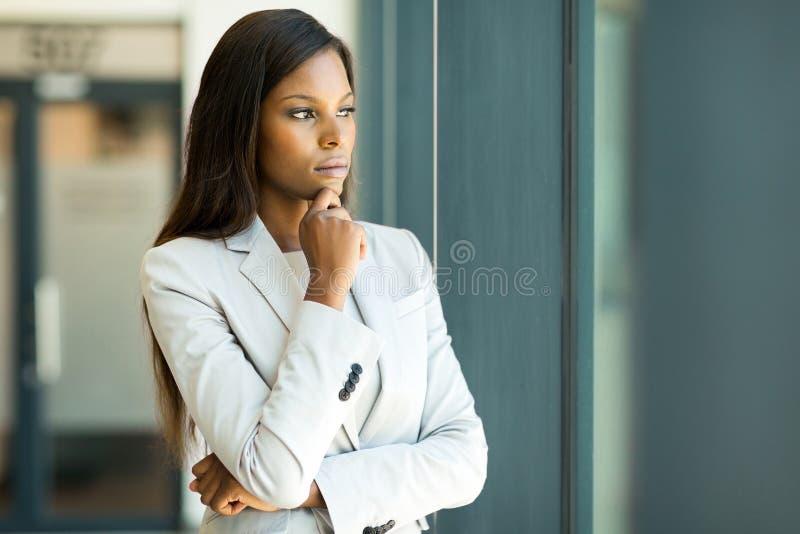 非洲女实业家 图库摄影