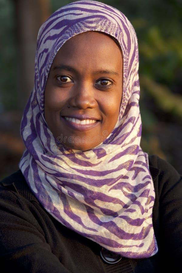 非洲妇女的画象 免版税库存照片