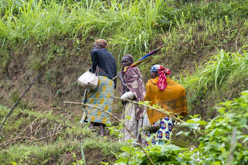 非洲妇女-卢旺达 图库摄影