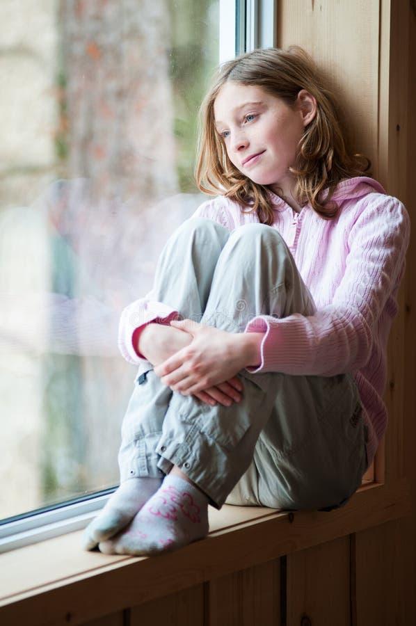 非离子活性剂年龄女孩 免版税库存照片