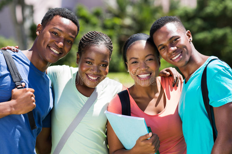 非洲学员大学 免版税库存图片