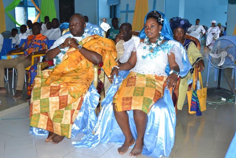 非洲宗教婚姻仪式 图库摄影