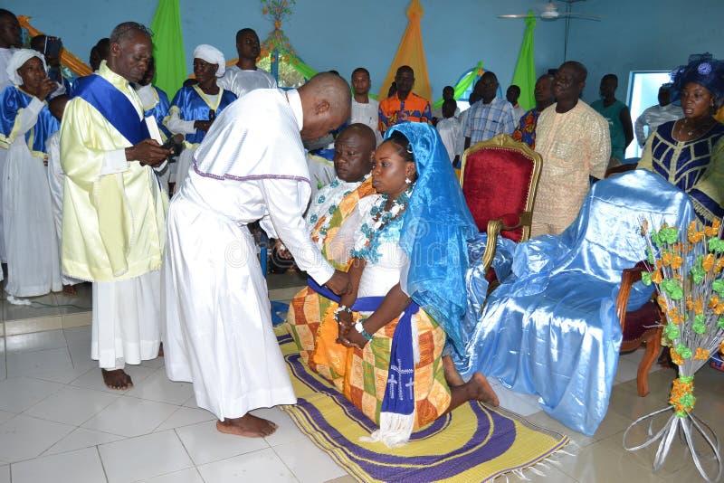 非洲宗教婚姻仪式 库存照片
