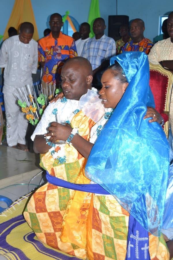 非洲宗教婚姻仪式 免版税图库摄影