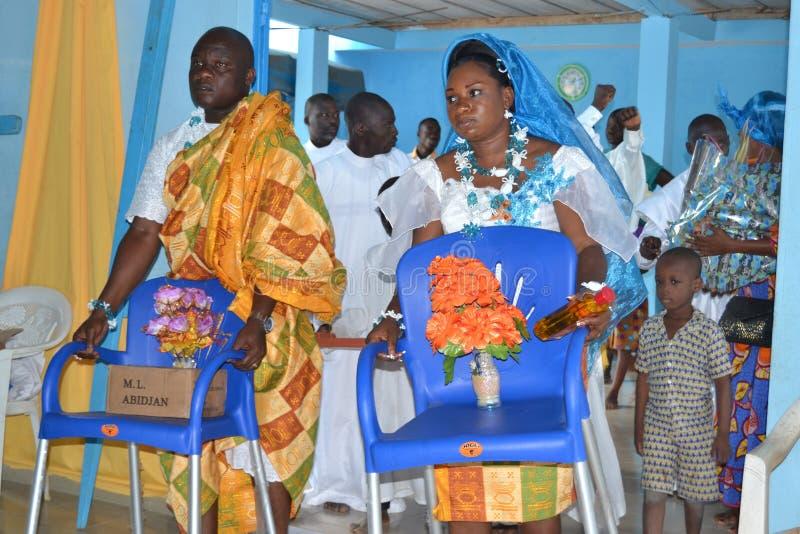 非洲宗教婚姻仪式 库存图片