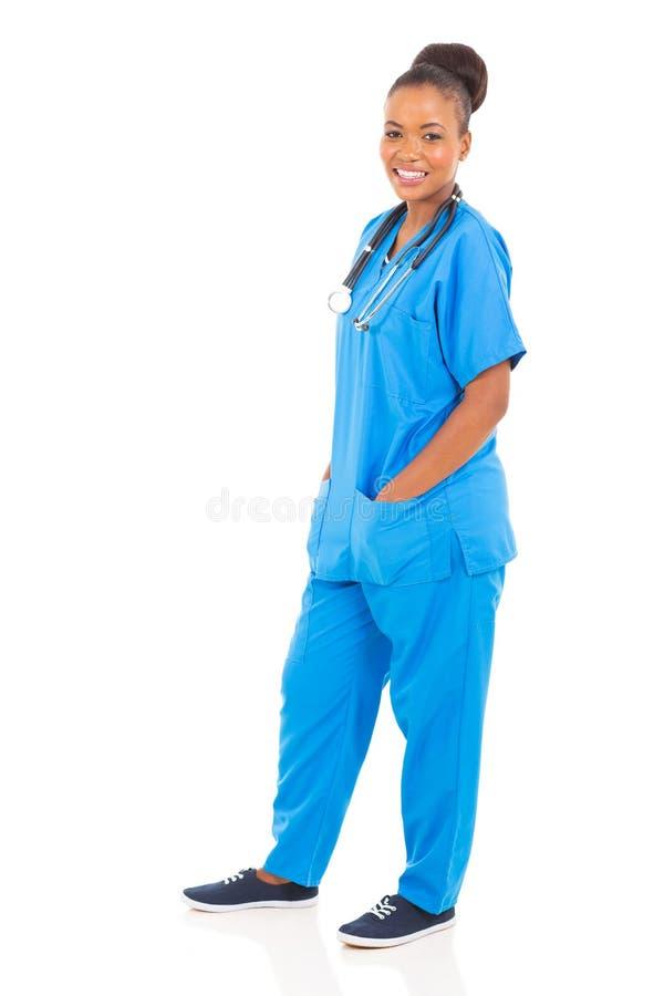 年轻非洲护士 免版税库存照片