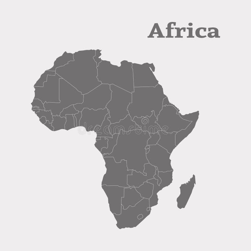 非洲映射分级显示 按钮查出的现有量例证推进s启动妇女 库存例证