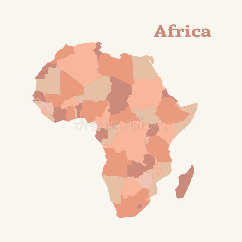非洲映射分级显示 按钮查出的现有量例证推进s启动妇女 皇族释放例证