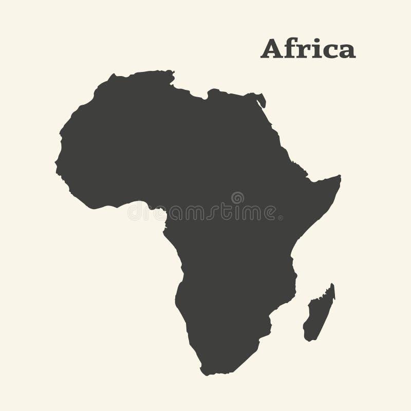 非洲映射分级显示 查出的向量例证 库存例证