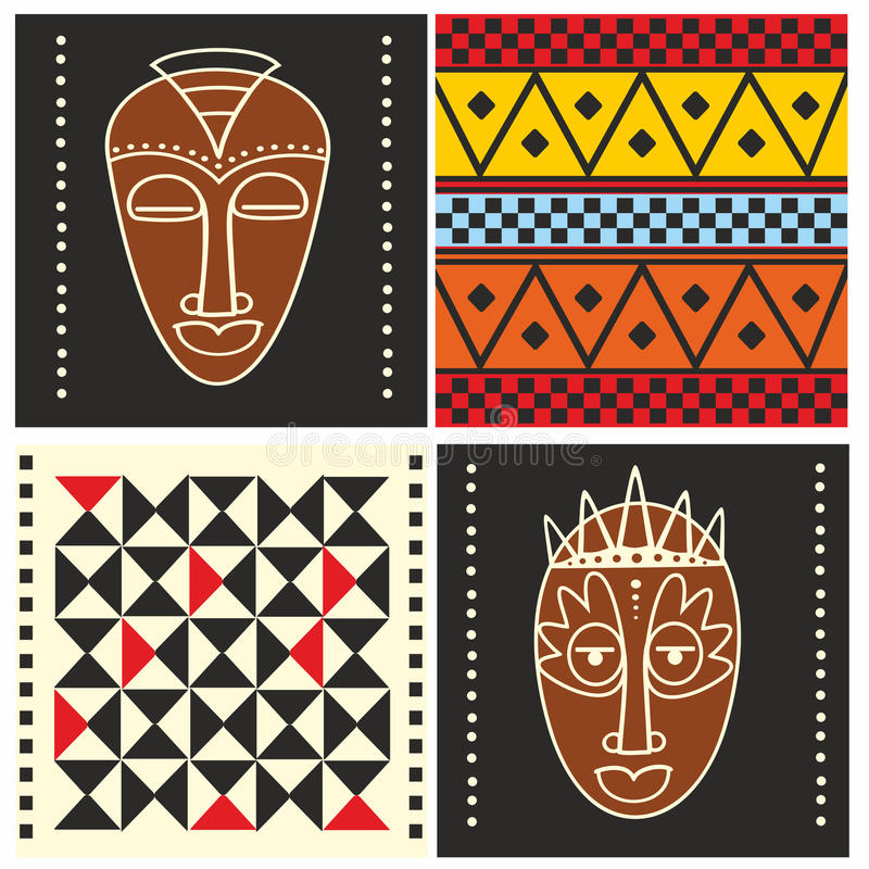 非洲模式 免版税库存照片