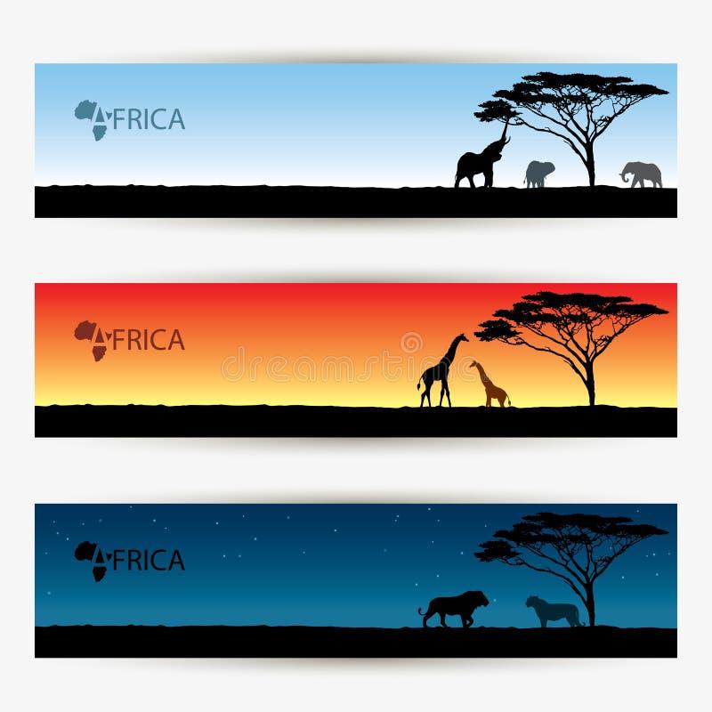 非洲横幅 皇族释放例证