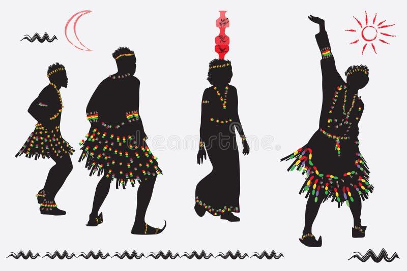 非洲民间舞 免版税库存照片