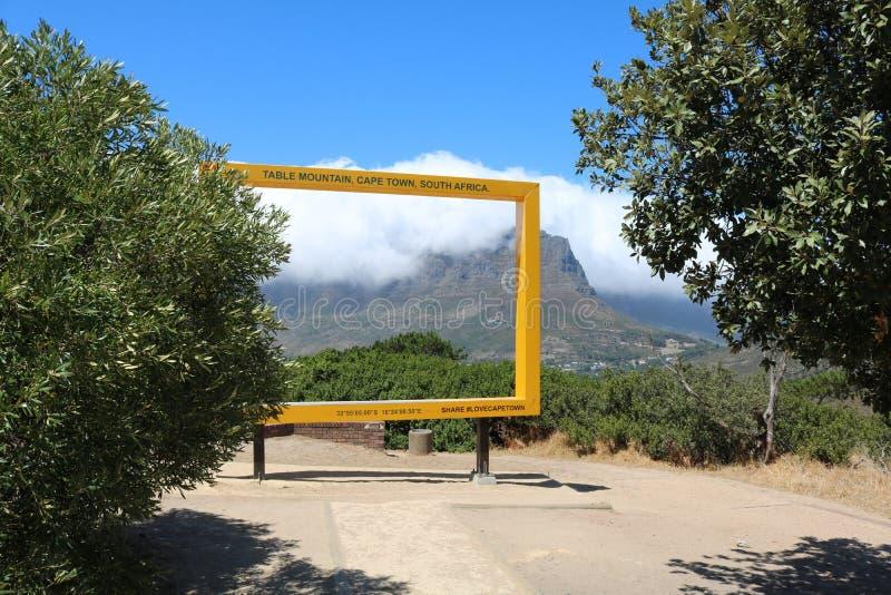 非洲海角山南表城镇 免版税图库摄影