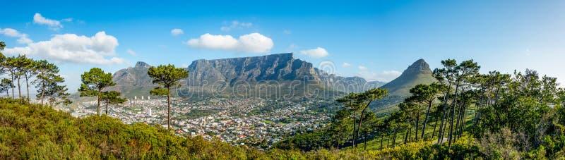 非洲海角山南表城镇 库存图片
