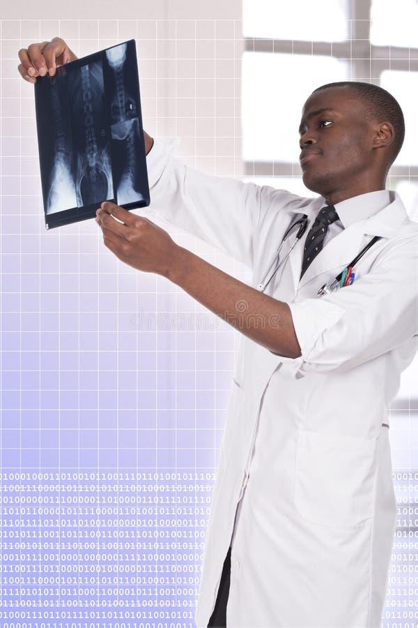 非洲年轻医生 库存照片