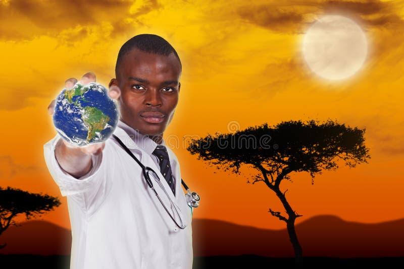 非洲年轻医生 库存图片