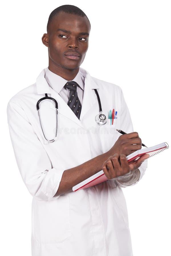 非洲年轻医生 图库摄影