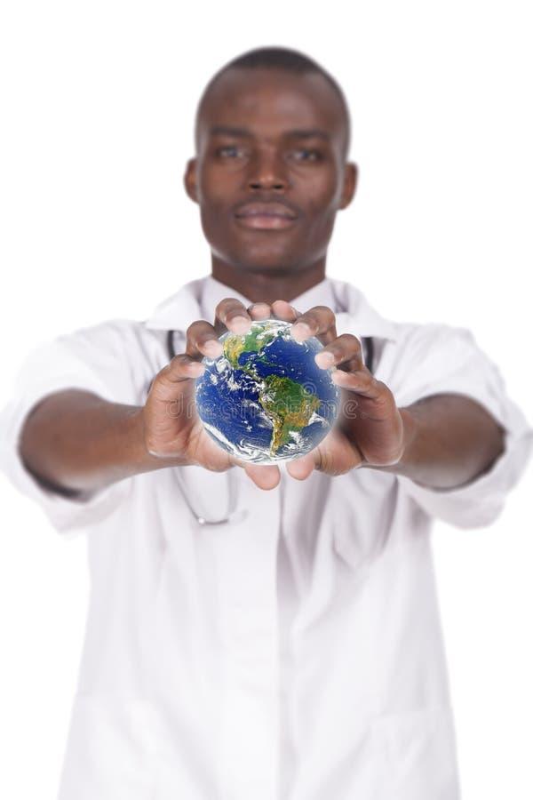 非洲年轻医生 免版税库存图片