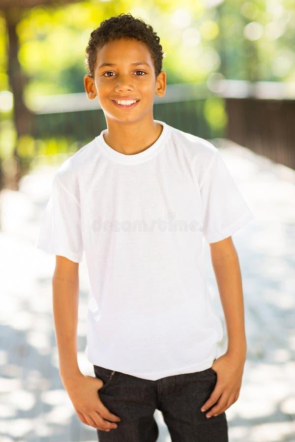 非洲男孩一点 库存照片