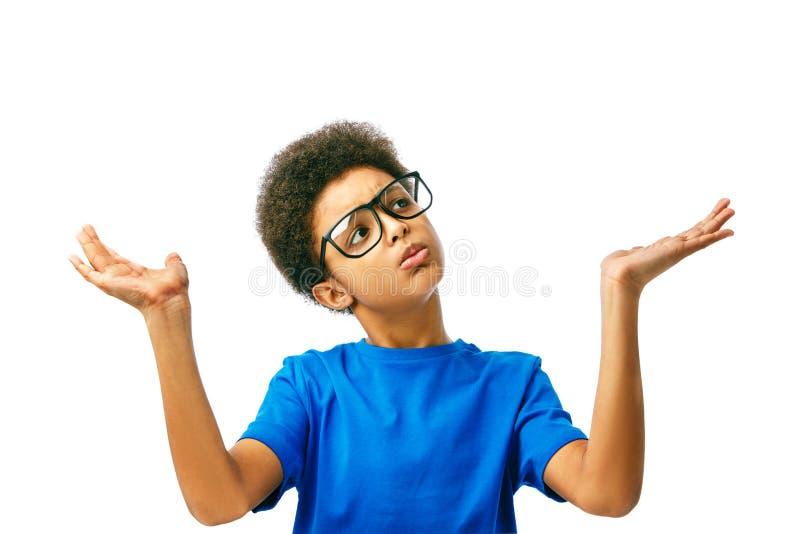 非洲男孩选择 免版税库存照片