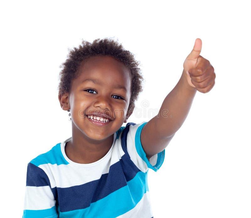 说非洲的孩子好 免版税库存图片
