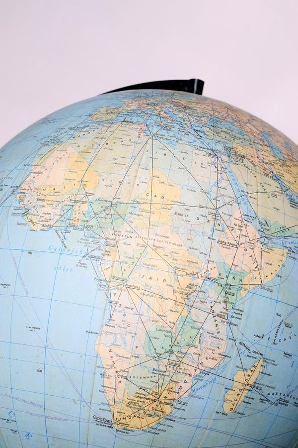 地球地图非洲 免版税库存图片