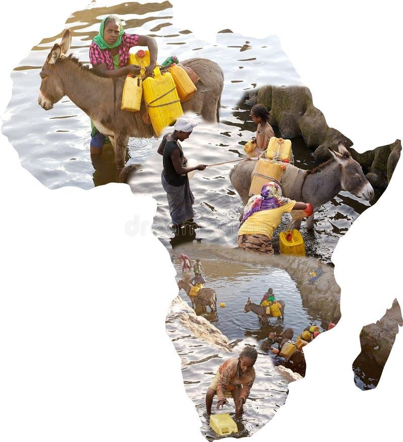 非洲的水 免版税库存图片