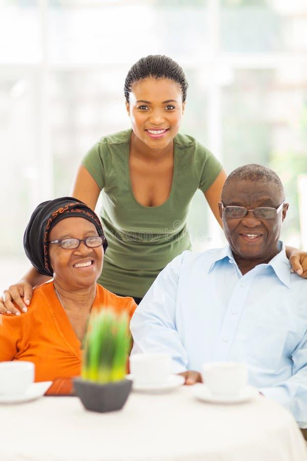 非洲祖父母孙女 免版税库存图片