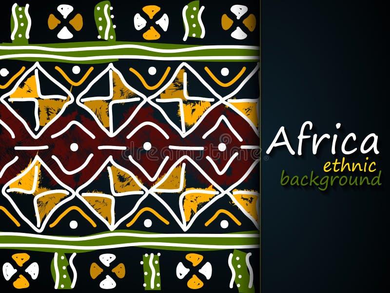 非洲种族传染媒介背景 部族的模式 向量例证