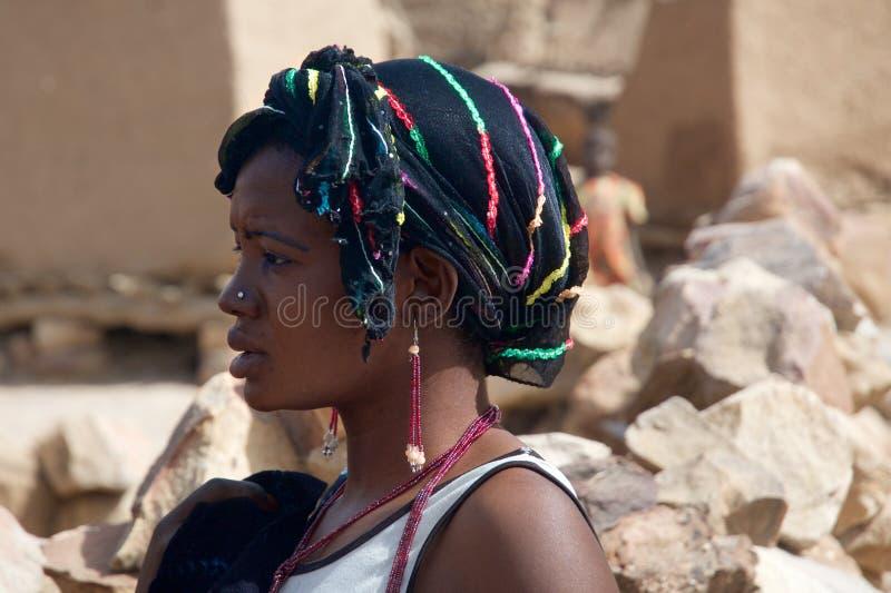 非洲美丽的女孩 库存照片