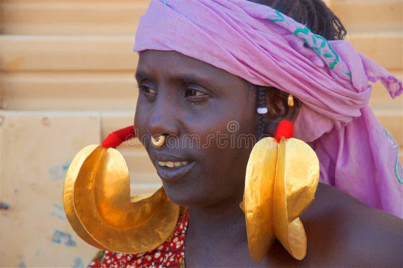 非洲美丽的女孩 免版税库存图片
