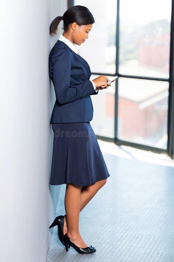 非洲职业妇女 免版税图库摄影