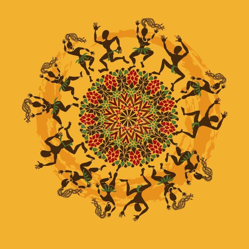 非洲舞蹈家的例证 皇族释放例证