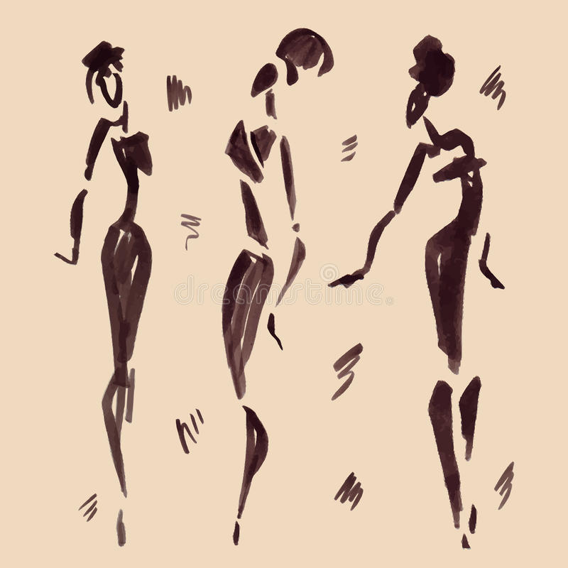 非洲舞蹈演员形象例证向量 拉长的现有量 向量例证