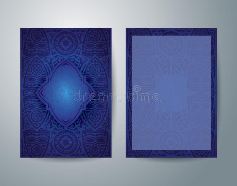 非洲艺术小册子飞行物设计 皇族释放例证